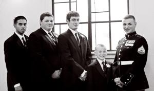 The Little Man as a Groomsman.