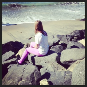 the Lovely Daughter on the beach