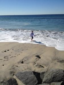 the Little Man on the beach