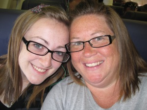 002 Grace and Mama on plane